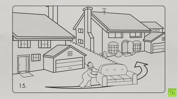 Watch: 'The Simpsons' Couch Gag In The Style Of An IKEA