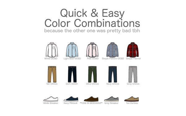 For Guys: A Quick & Easy Color Combination Guide For Men's