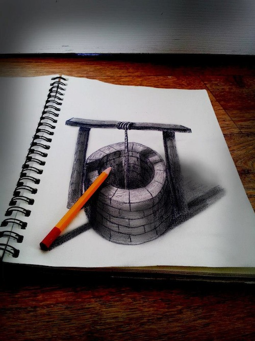 Artist Sketches Amazing 3D-Illusion Drawings - DesignTAXI.com