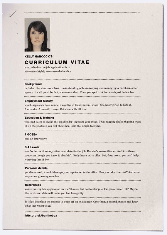 Clever Resume Print Ads Highlight The Discrimination Faced