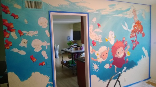 A Fun Undersea Mural That Features Disney Pixar And