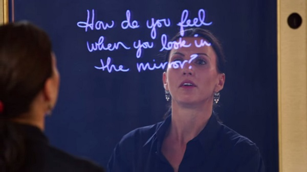 Interactive Mirror Delivers Positive Messages To Women Shows They Are Enough  DesignTAXIcom