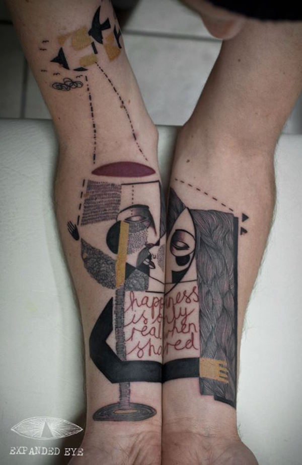 Surreal Abstract Tattoo