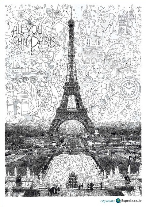 Whimsical Drawings Of London Paris And Moscow