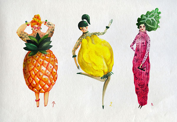 Illustrator Imagines The Alphabet As Adorable Fruit And