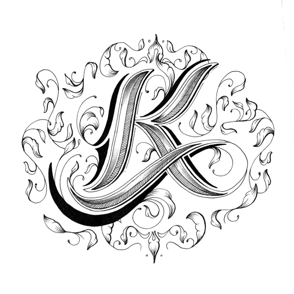 Intricately Hand-Drawn Alphabet With Individually Designed