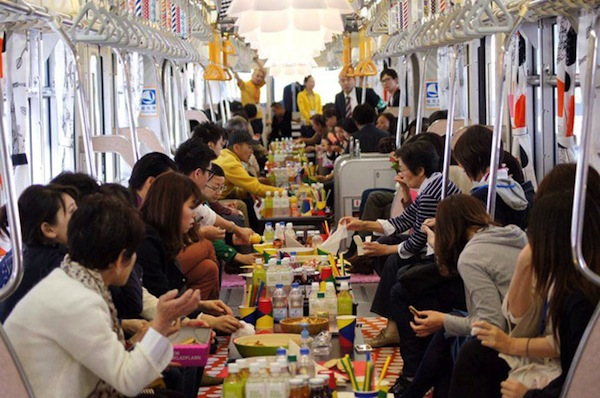 In Tokyo IKEA Converted A Monorail Into A Party Train  DesignTAXIcom