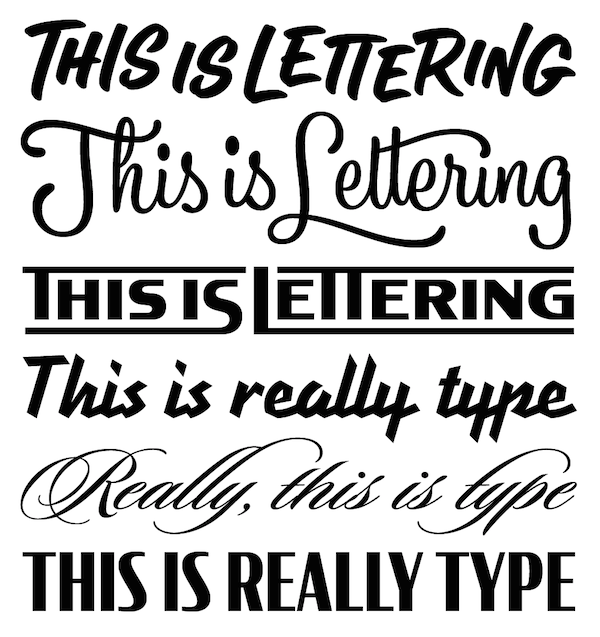 Difference Between Lettering & Type, Definitions Of