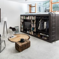 The Multi-Purpose Living Cube Fits Life/Storage Into 100 Square Feet