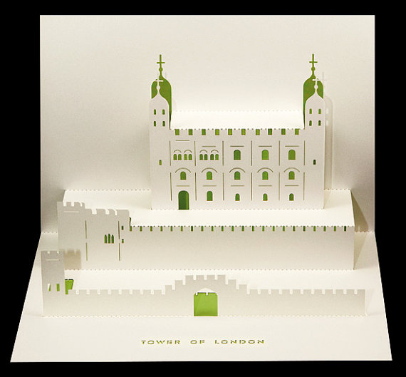Beautiful Paper Cut Pop Up Cards Of London S Famous