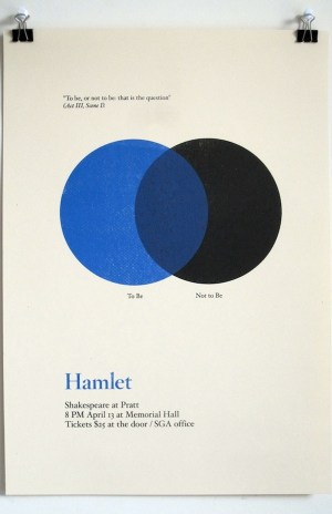 Three Famous Shakespeare Quotes As Minimalistic Diagrams