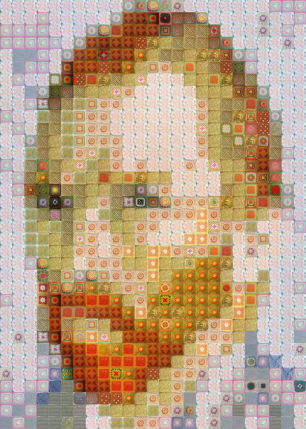 Artist Recreates Famous Art In Mosaic Using Everyday Items