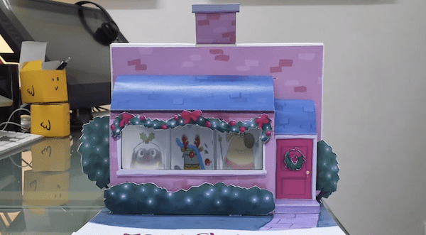 An Animated Christmas Pop Up Card That Surprises You With