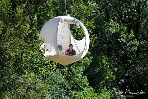 Lovely Round Tents That Hang On Trees Let You Camp Out In
