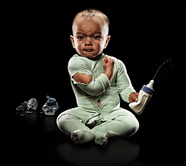 Funny Portraits Of Super Strong Babies Raise Awareness Of