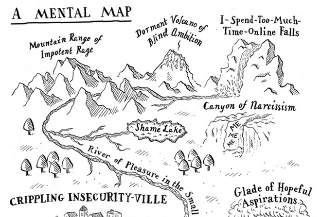 A Mental Map: An Illustrated Guide To A Writer's Thoughts