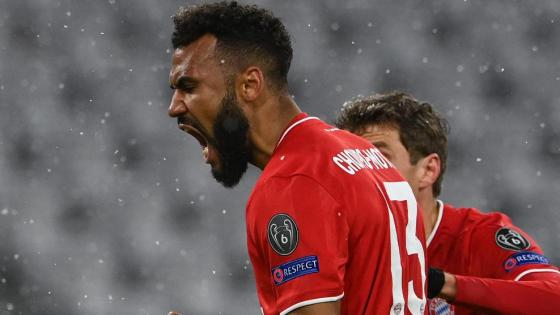 Eric Maxim Choupo-Moting yells after giving Bayern hope