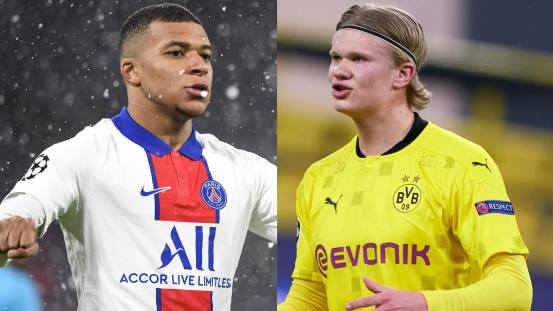 How good are Kylian Mbappé and Erling Haaland?   .     UEFA Champions League