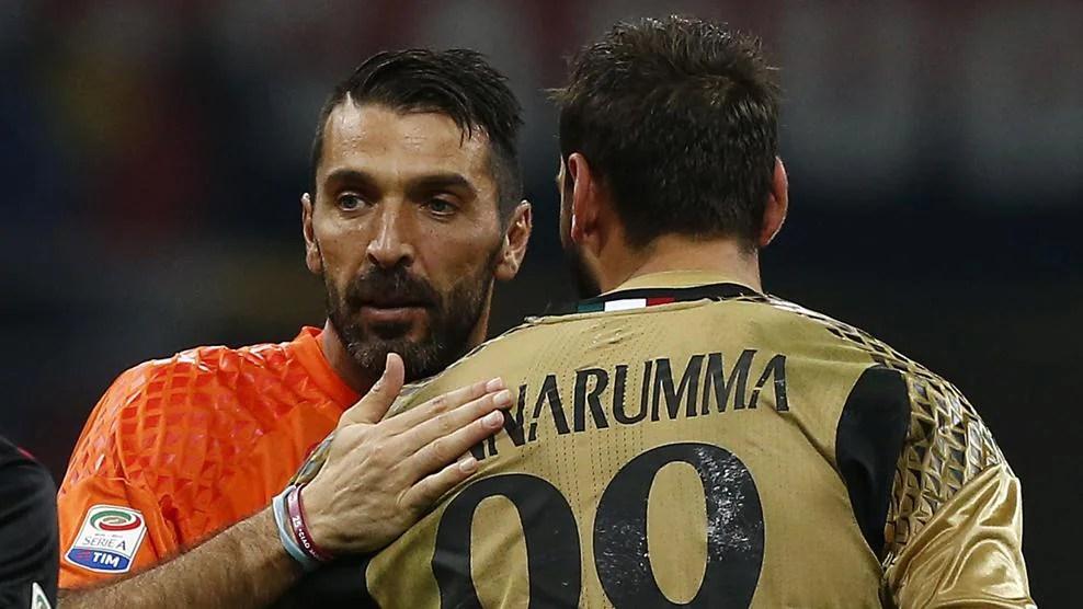 Gianluigi Buffon and Donnarumma: