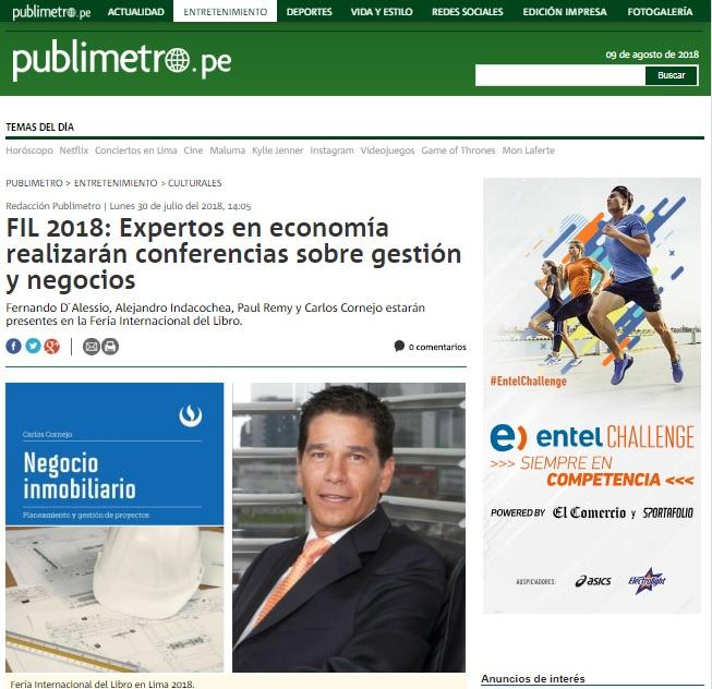 FIL 2018: Expertos en economía realizarán conferencias sobre gestión y negocios