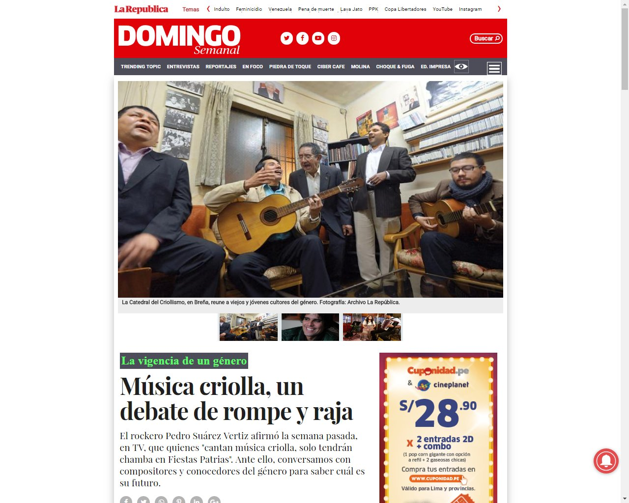 Música criolla, un debate de rompe y raja