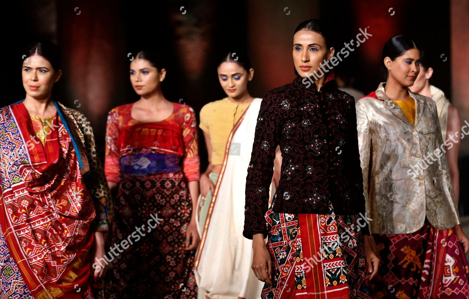 models display creations by