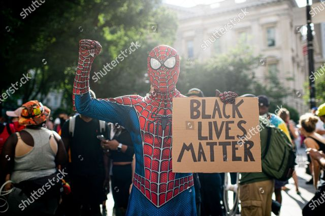 Black Lives Matter protest, New York, USA - 30 Jun 2020 Stok Fotoğraf