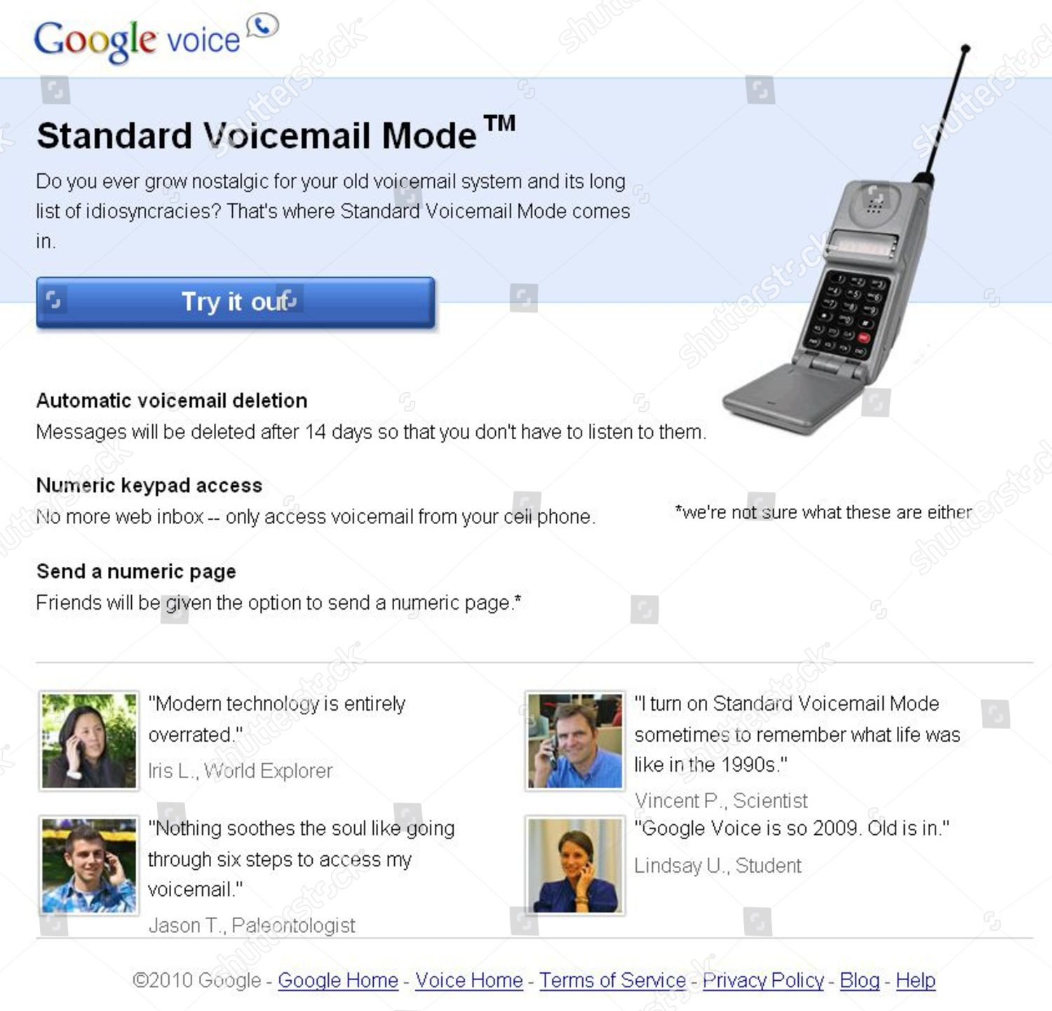 google introduces standard voicemail