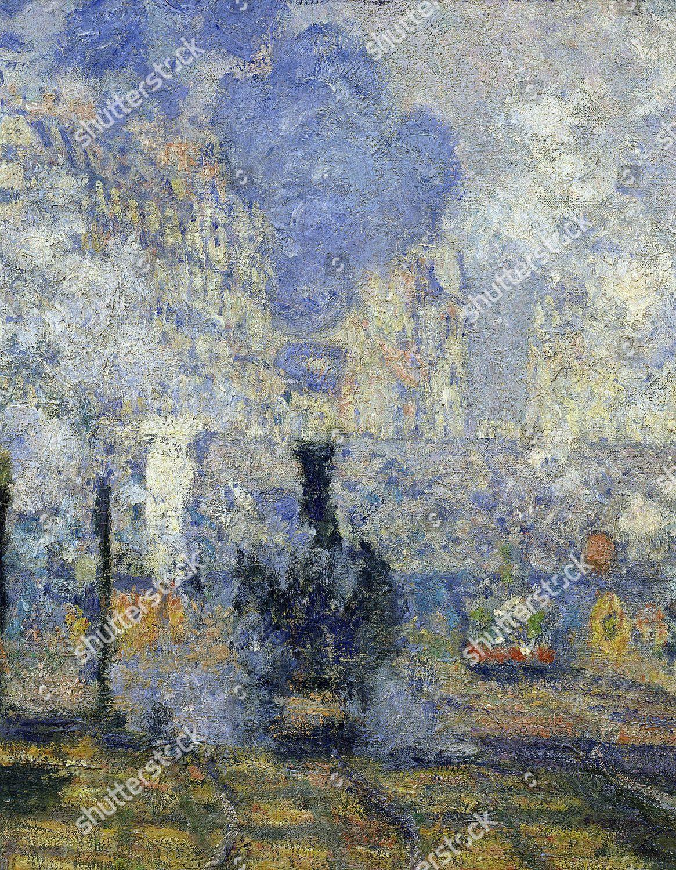 Claude Monet La Gare Saint Lazare : claude, monet, saint, lazare, Steam, Trains, SaintLazare, Saint, Lazare, Editorial, Stock, Photo, Image, Shutterstock