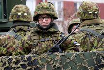 Estonian Troops Parade Narva Estonia Vehicles