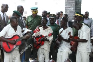 ZIMBABWE PRISONS TOUR Inmates play their guitars Editorial Stock Photo - Stock Image | Shutterstock