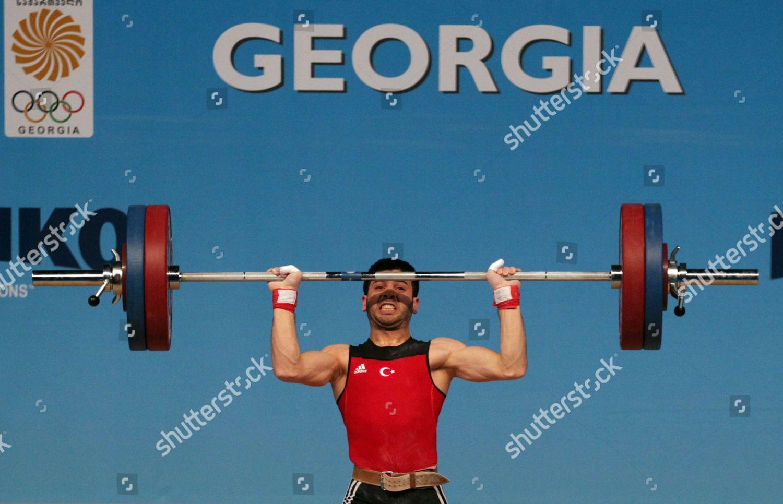 Turkish Sevket Kardas Competes During Clean Jerk Editorial Stock Photo - Stock Image   Shutterstock
