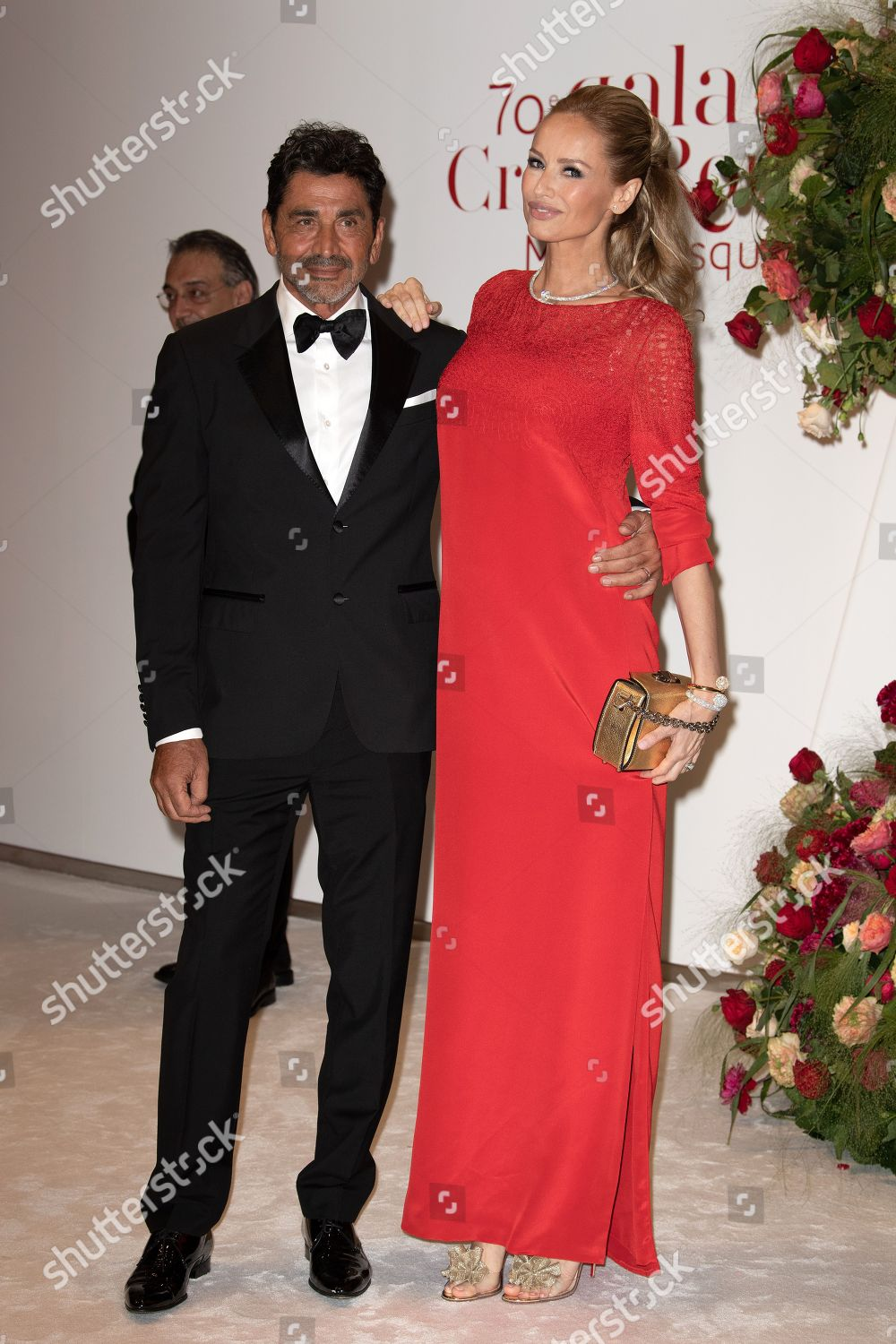 Adriana Karembeu her husband Aram Ohanian attend Editorial Stock