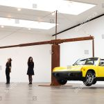 Art Installation Consisting Yellow Porsche Car Held Editorial Stock Photo Stock Image Shutterstock