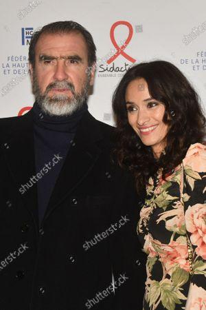 Éric cantona et sa femme rachida brakni dans la série le voyageur. Stockbilder Pasidaction Gala Dinner Paris Exklusiva Shutterstock