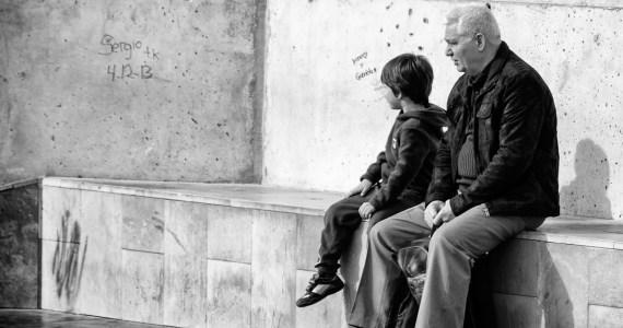 Descansando con mi abuelito.