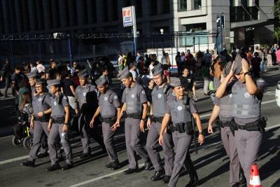 Protestos na Avenida Paulista contra morte de PMs