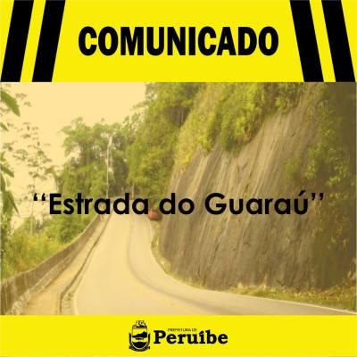 Estrada do Guaraú será parcialmente interditada por risco de desabamento
