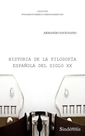 Portada historia de la filosofía española del siglo xx