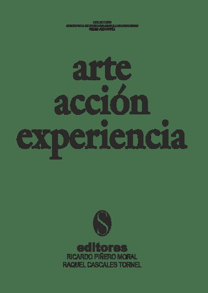 portada arte acción experiencia