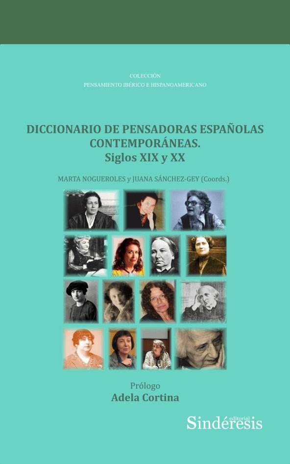 Portada Diccionario de Pensadoras Españolas Contemporáneas S XIX y XX