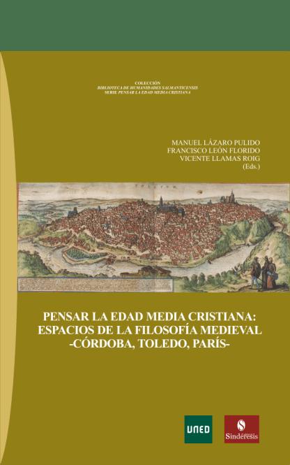 portada pensar la edad media cristiana espacios de la filosofia medieval cordoba toledo paris