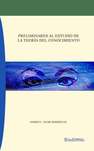 portada preliminares al estudio de la teoria del conocimiento