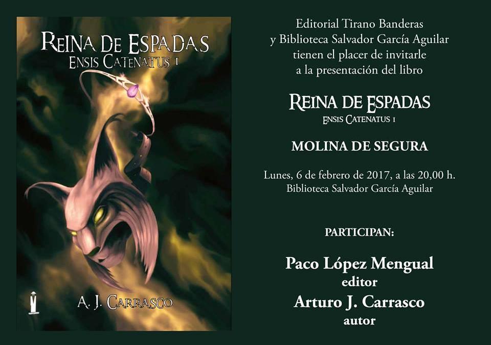 """Presentación del libro """"Reina de Espadas"""" en Molina de Segura"""