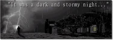 Graveyard on a dark and stormy night