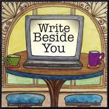 computer screen showing words write beside you