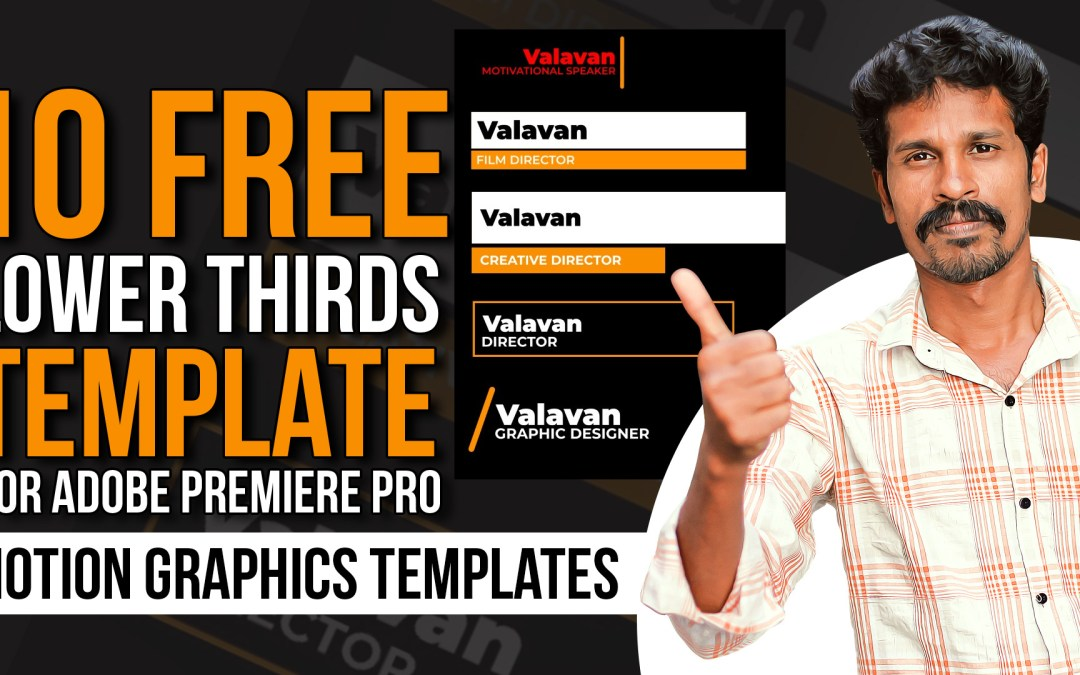 10 Free Lower Thirds Template For Adobe Premiere Pro