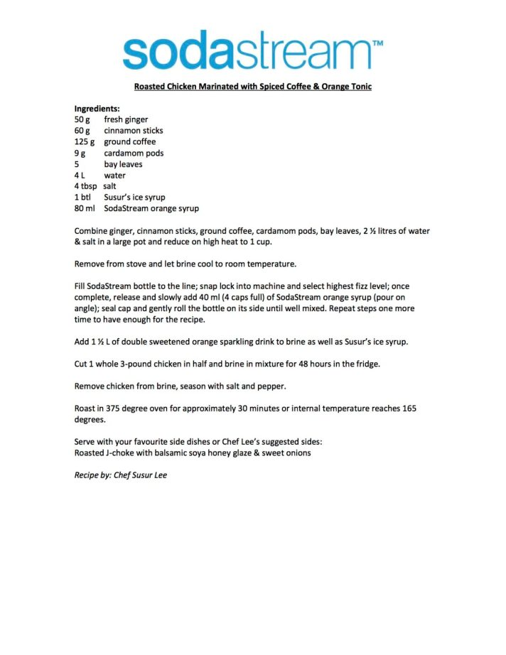 Susur Lee's SodaStream Roast Chicken - FINAL