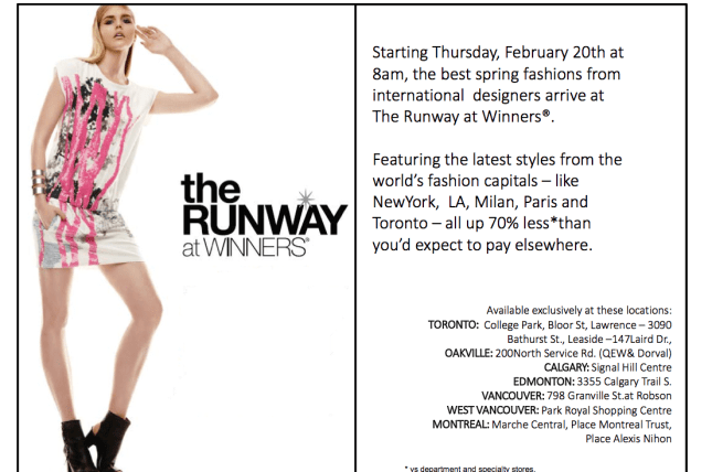 Runway at Winners