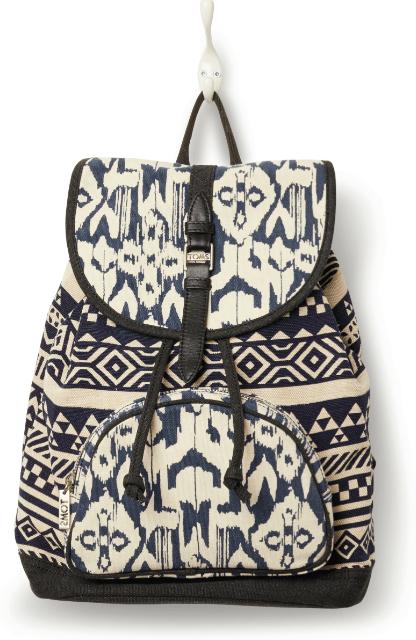 TOMS traveler indigo ikat backpack